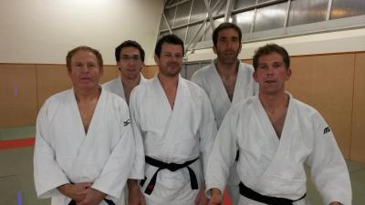 Christian Lescaudron, Benjamin Lescaudron (coach), Jérôme Lepouze, Vincent Lescaudron (Prof) et Ludovic Sorin