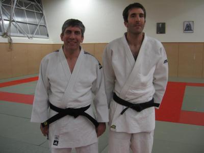 Bertrand Dubot et son professeur Vincent Lescaudron