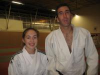Carla Campas-Poulmaire & son professeur Vincent Lescaudron
